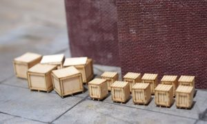 HO Scale crates