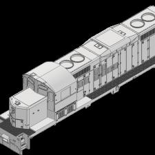 GP9RM 36″ FAN, CAB W/ LOUVERS