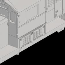 GP9RM 48″ FAN, CAB W/ LOUVERS