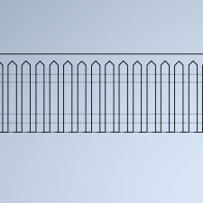 PICKET FENCE- POINTED TOP