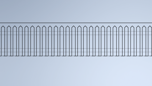 HO scale picket fence